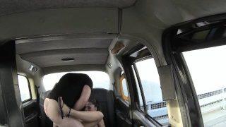 FakeTaxi Sassy Romanian with perfect tits gets taxi facial